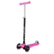 Самокат Макси PLAYSHION со светящимися колесами FS-MS002LP (Розовый), фото 1