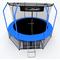 Дачный складной батут - I-JUMP ELEGANT 12FT BLUE, защитная сетка, мат, лестница, фото 1